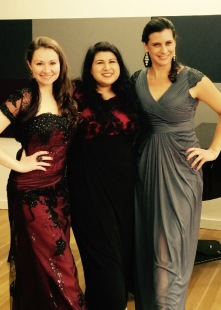 Christina, Anastasia, and Jennie.. in opposite order and concert attire.